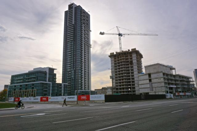 Looking southwest to Atria condos in October, 2017, image by Craig White
