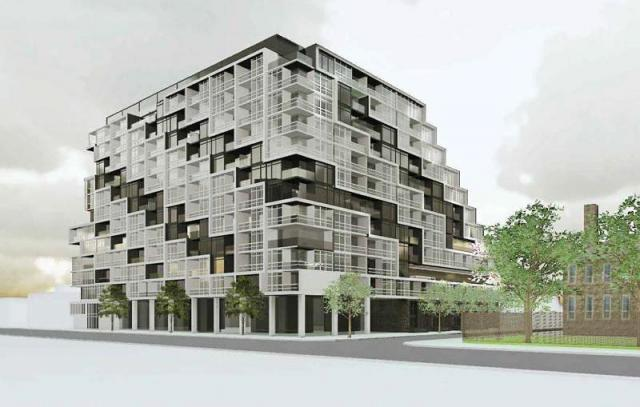 18 Eastern condos Toronto, designed by Teeple Architects for Alterra