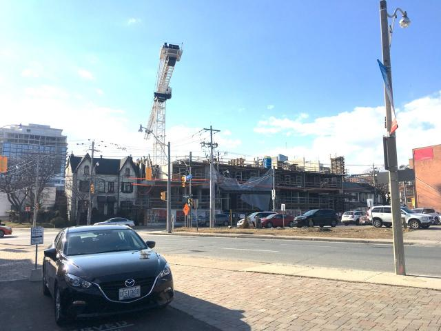 East United Condos under construction in March, 2018, Toronto