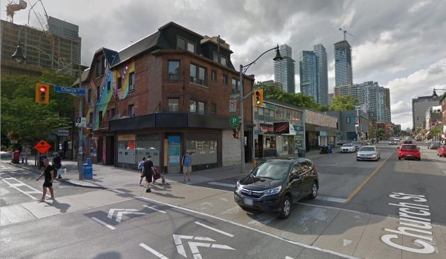 Looking northwest up Church Street, image retrieved from Google Street View