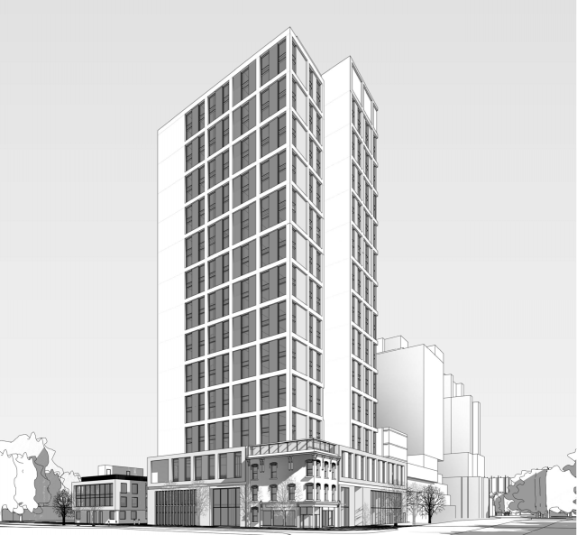 Proposed U of T residence, Toronto, image by Diamond Schmitt Architects