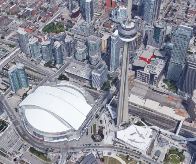 Rogers Centre, CN Tower, Ripley's Aquarium of Canada, Toronto
