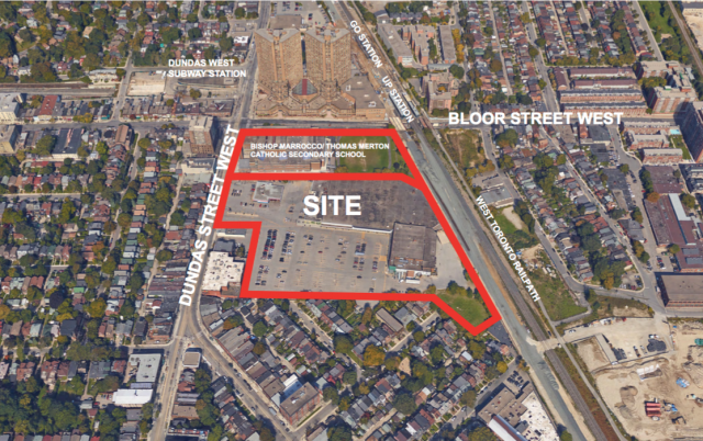 2280 Dundas West, Bishop Marrocco lands to the north, Choice Properties REIT
