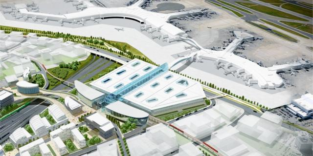 Toronto Pearson Transit Hub concept plan, image courtesy of the GTAA