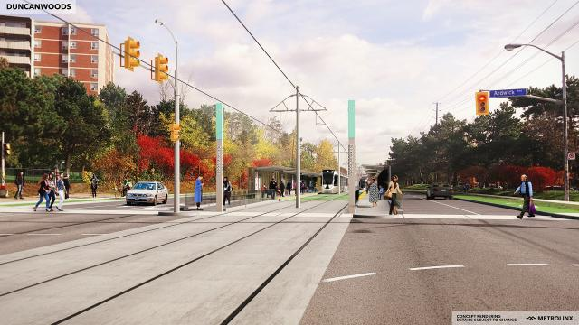 Rendering of Finch West LRT station