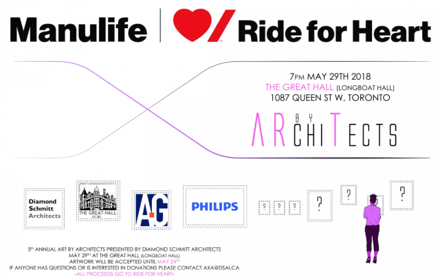 Art by Architects, Diamond Schmitt, Great Hall, Manulife, Ride for Heart,