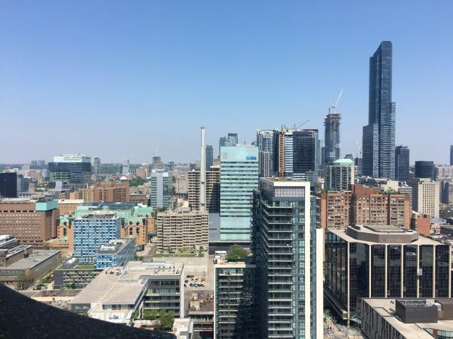 View north from the City Hall observation deck, 2018, image by Edward Skira