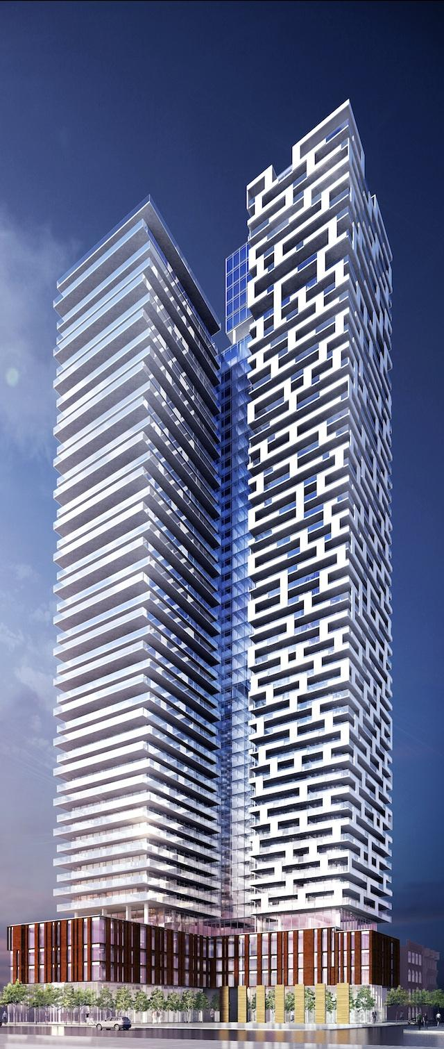 Rendering of Yonge & Rich, Toronto, by architectsAlliance for Great Gulf