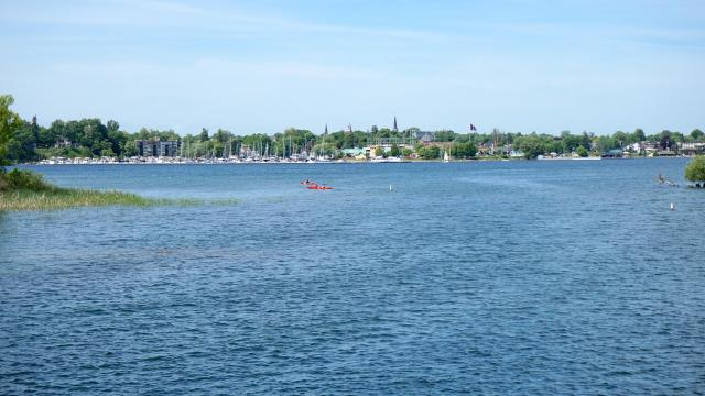 Gananoque seen from the Thousand Islands, image by Craig White