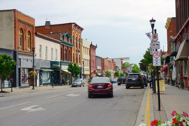 King Street East, in Downtown Gananoque, image by Craig White