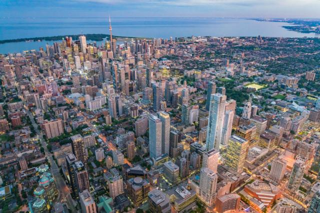 Photo of the Day, Toronto skyline, aerial view