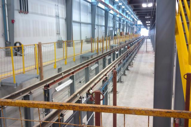 Interior of maintenance and storage facility at Mount Dennis