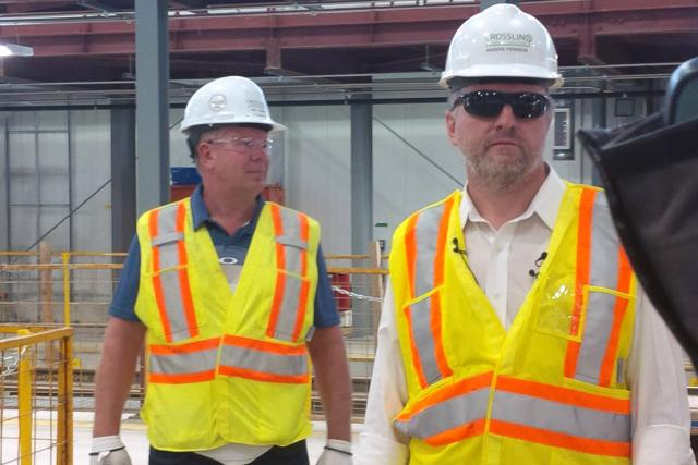 Crosslinx Transit officials leading the media tour