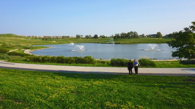 Looking southeast across the Downsview Park pond, image by Craig White