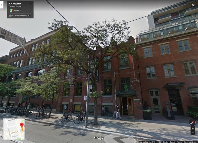 Looking northwest to 578 King Street West, image from Google Street View