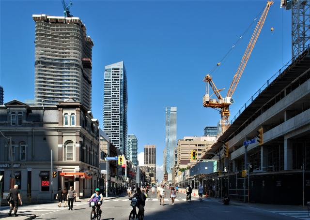 Looking north on Yonge Street from Grosvenor on September 16, 2018, Toronto