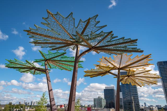 Maple Leaf Trellis by Demakersvan at Woodsy Park, image courtesy of Concord Adex