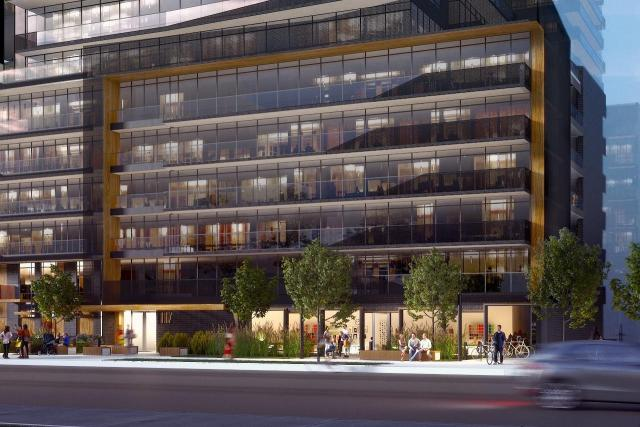 A childcare facility faces Broadway at Line 5 Condos, Toronto, Westdale, Reserve