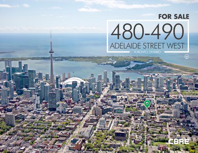 480-490 Adelaide Street West, CBRE, Toronto