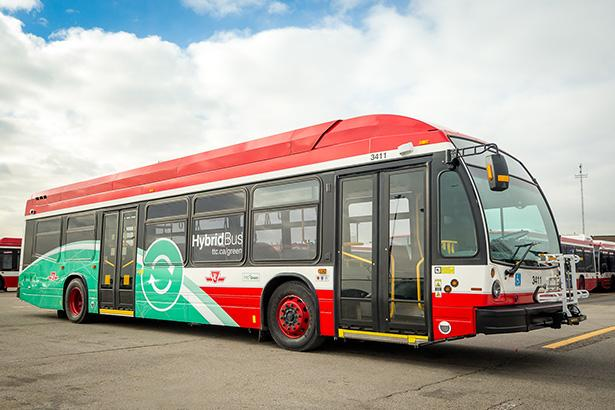 The first of the TTC's 255 new Hybrid Electric buses