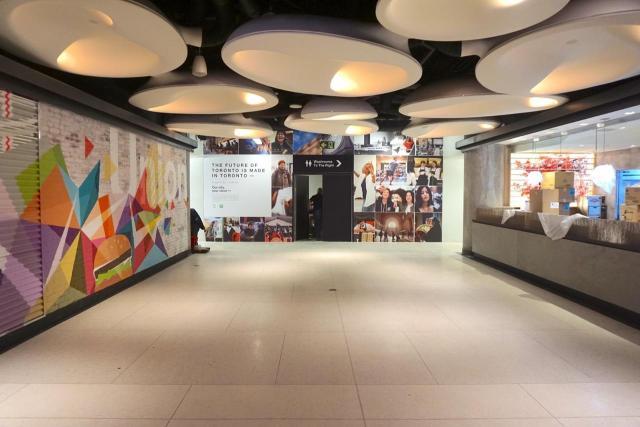 Hallway towards the future Fresh Market area of Union Station, Toronto
