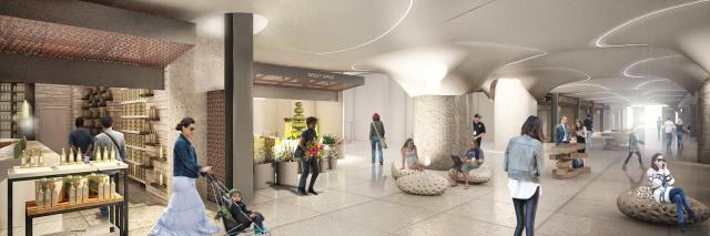 Concept rendering of the Fresh Market area at Union Station by PARTISANS