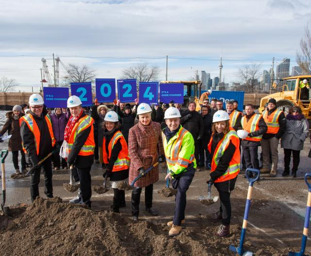 Officials from all three levels of Government at the Groundbreaking Ceremony, im