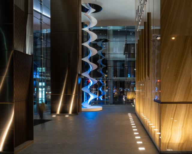 Infinite Energy, Sun Life Financial Tower Lobby by Menkes Developments, Toronto