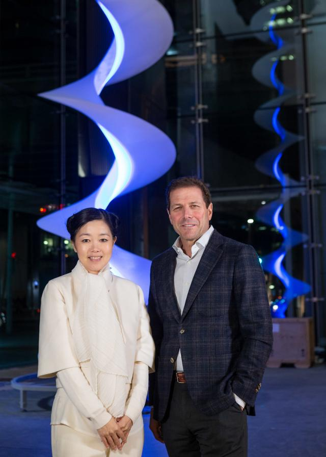 Mariko Mori at Sun Life Financial Tower Lobby by Menkes Developments, Toronto