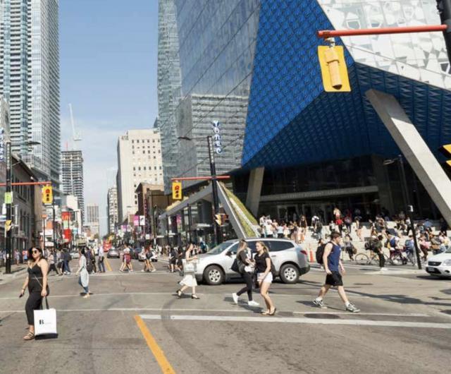Yonge and Gould, where Ryerson meets Toronto. Photo by Dominic Ali via Ryerson C