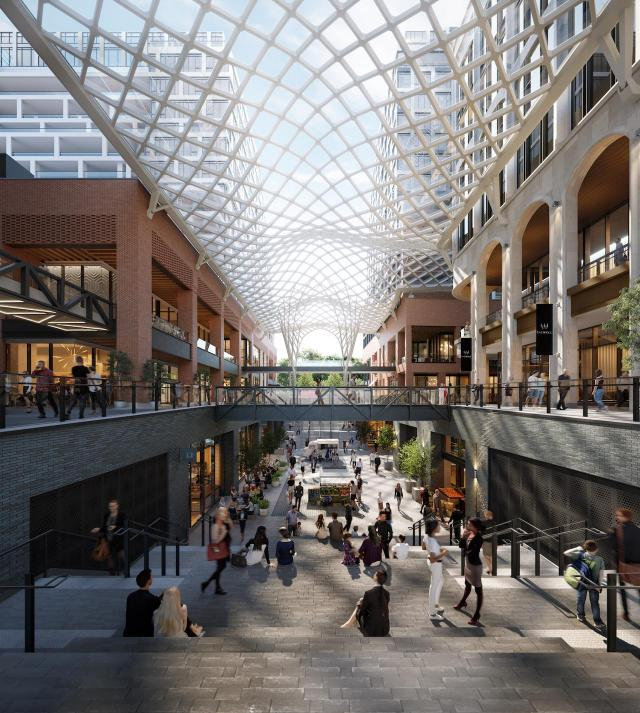 The Well, Toronto, by RioCan REIT, Allied Properties REIT, Diamond Corp, Tridel