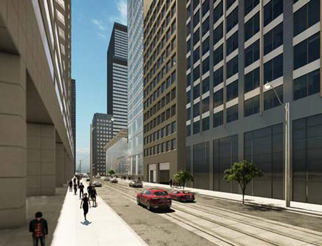 Looking west to Commerce Court 3 by Hariri Pontarini, Toronto, QuadReal