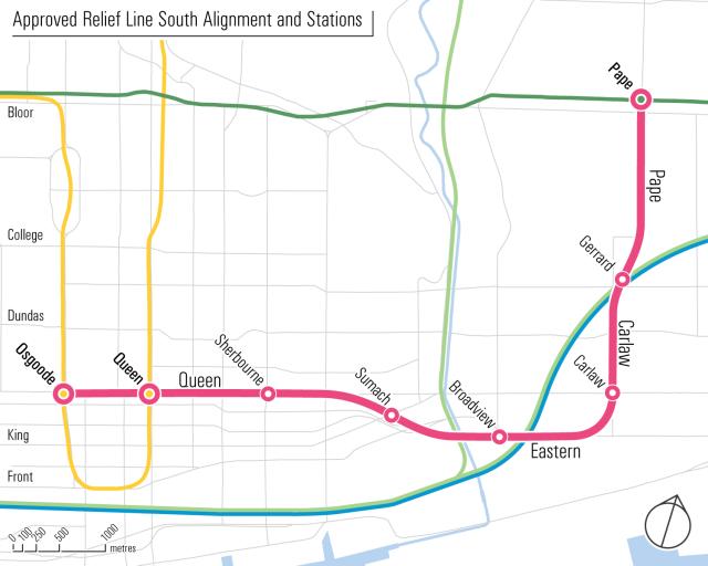 Toronto Dream Subway Map.Ontario Government Lines Up New Toronto Transit Plan Urban Toronto