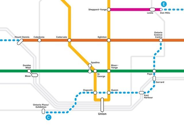 Subway Map In Heart Shape.Ontario Government Lines Up New Toronto Transit Plan Urban Toronto