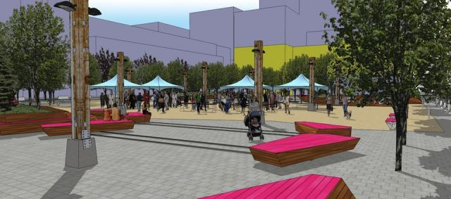 Market area view of Lisgar Park, image courtesy of Toronto Parks and Recreation