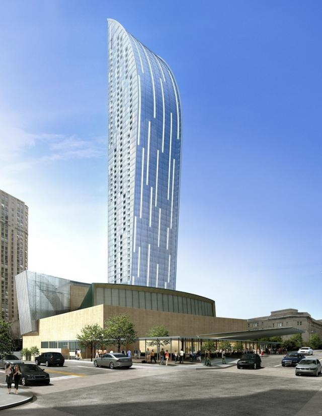 L Tower Condos above the Sony Centre for the Performing Arts, image courtesy of Cityzen, Fernbrook Homes and Castlepoint