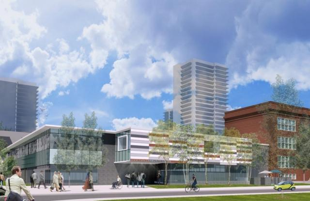 Rendering of the Regent Park Community Centre by CS&P Architects for the City of Toronto