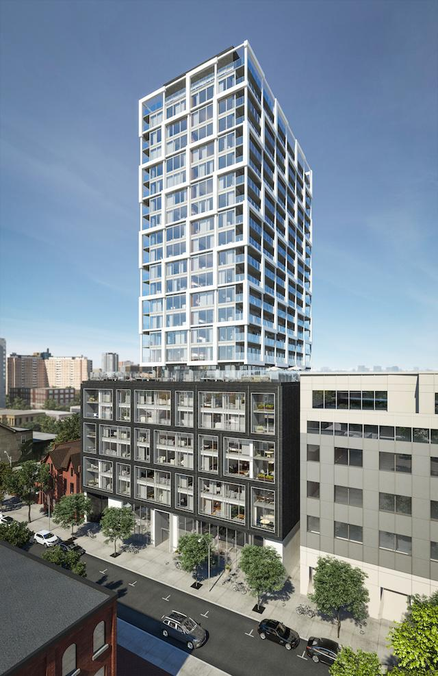 East FiftyFive condos by architectsAlliance for Lamb Development Corp and Hyde Park Homes