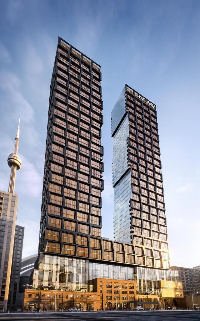 Hero Shot, Nobu Residences by Teeple Architects for Madison Group