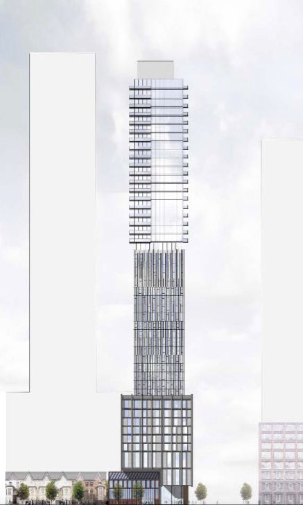 OMB-approved design for Theatre District Hotel and Condos at 30 Widmer, image by Quadrangle Architects