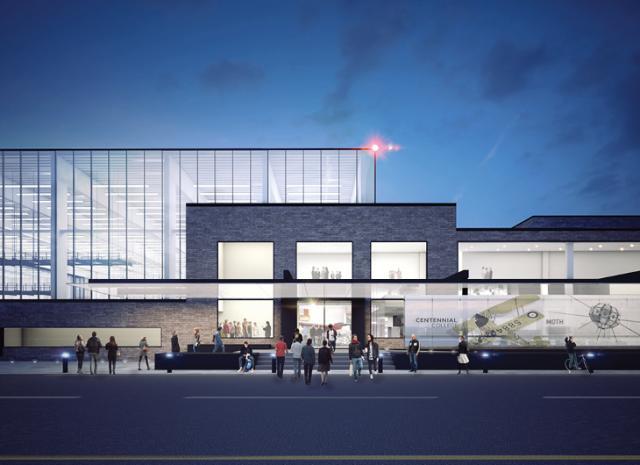 The new campus, image via MJMA Architects