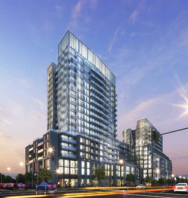 Northeast facing rendering, 660 Eglinton Avenue East by Turner Fleischer Architects