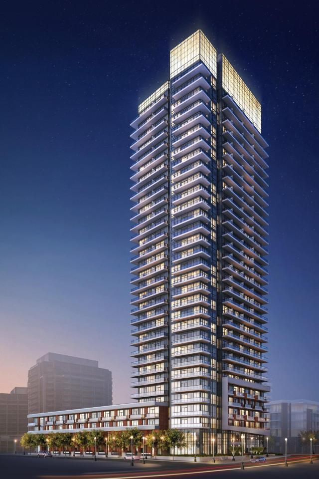 32-storey rendering of Fortune at Fort York (approved at 24 storeys), image courtesy of Onni Group