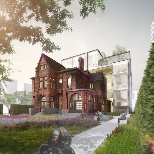 Rendering of Casey House, image courtesy of Hariri Pontarini Architects