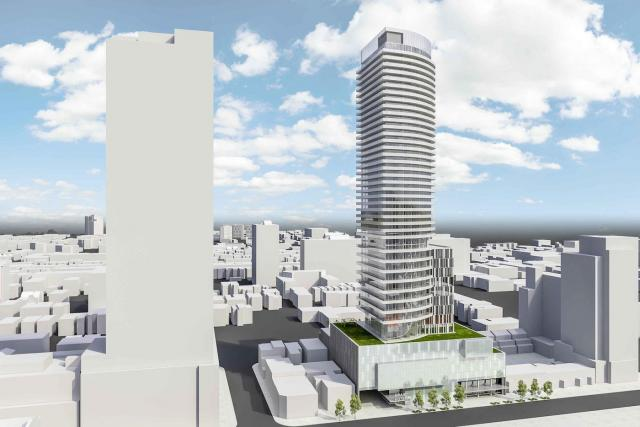 East aerial view, 225 Jarvis Street by Core Architects