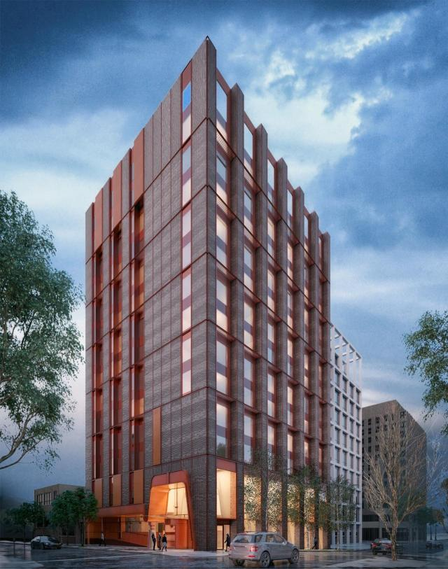 Looking southeast to 51 Camden Street by Shim-Sutcliffe for Carbon Hospitality