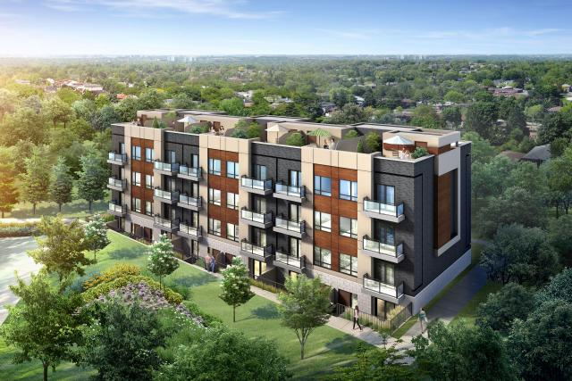 Rendering of Spice Urban Towns, image courtesy of Spice Danforth Inc.