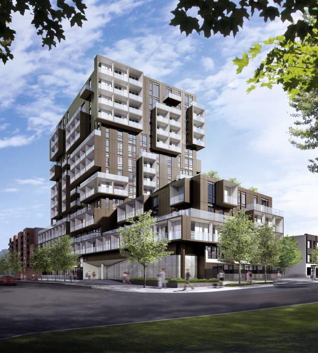 SQ2 condos by Teeple Architects for Tridel