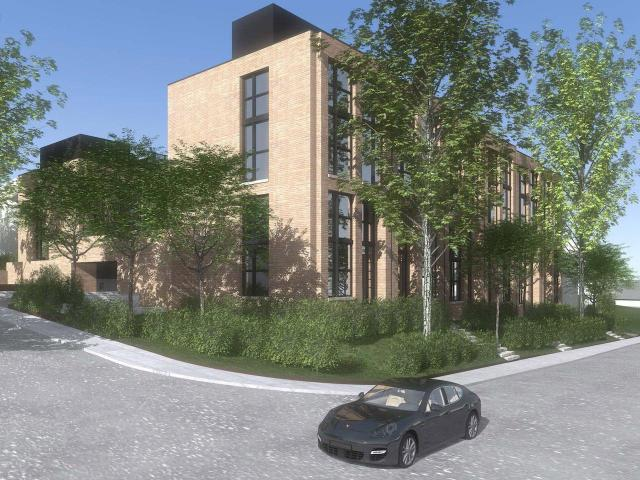 Looking southwest to 49-51 Lawrence Ave. East & 84 Weybourne by architectsAlliance for Gairloch