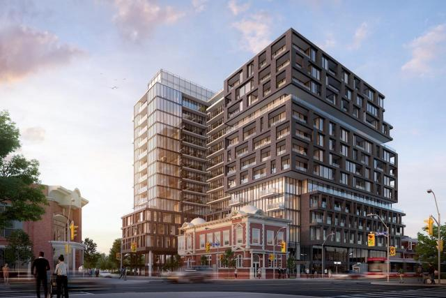 Looking southwest to XO Condos at 1221 King West, image courtesy of Lifetime Developments
